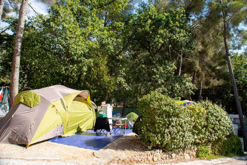 Camping Les Playes : Emplacement Tente