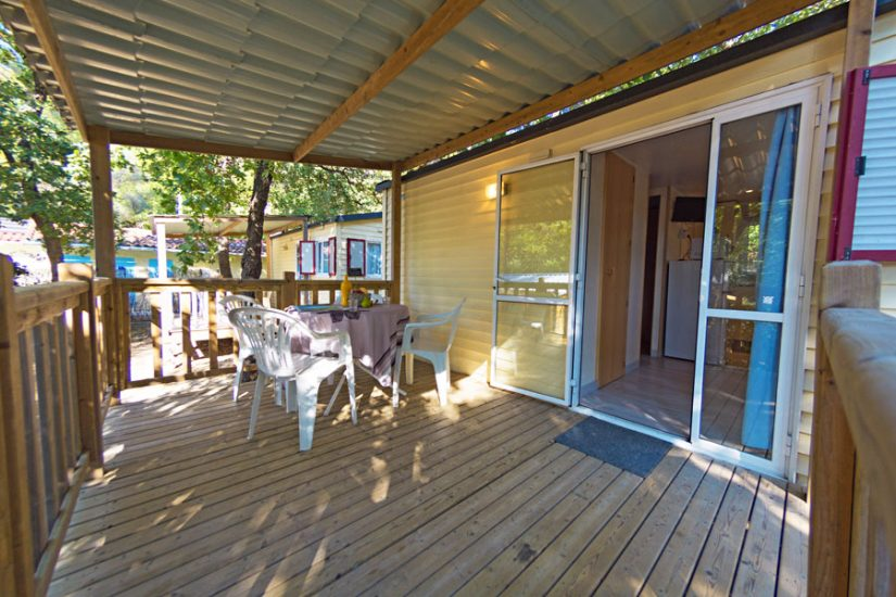 Camping Les Playes : Terrasse Mobilhome Sicie