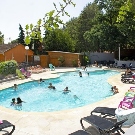 Camping Les Playes : Pano Pisc1